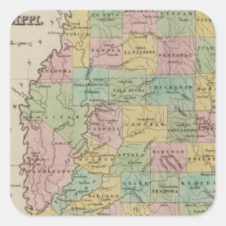 Mississippi 11 square sticker