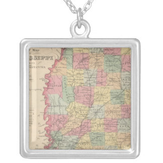 Mississippi 2 silver plated necklace