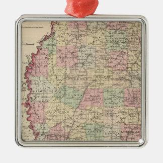 Mississippi 3 christmas ornament