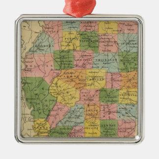 Mississippi 5 christmas ornament