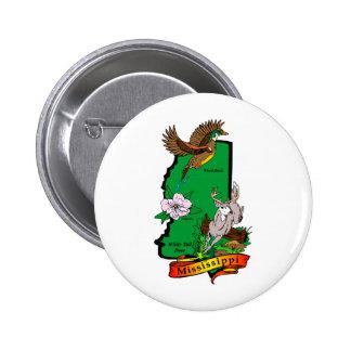 Mississippi 6 Cm Round Badge