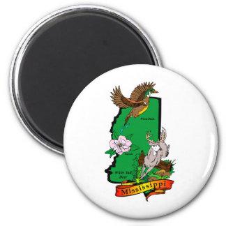 Mississippi 6 Cm Round Magnet