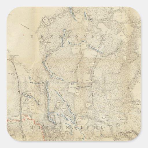 Mississippi 8 square sticker