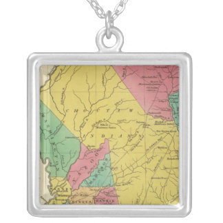 Mississippi 9 silver plated necklace