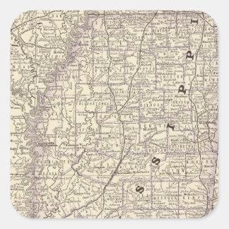 Mississippi 9 square sticker