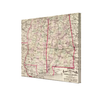 Mississippi and Alabama Canvas Print