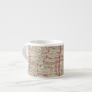 Mississippi and Alabama Espresso Cup