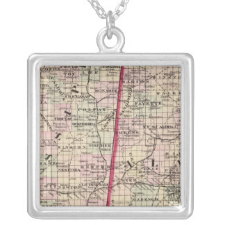 Mississippi and Alabama Silver Plated Necklace