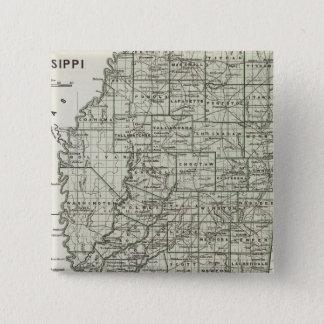 Mississippi Atlas Map 15 Cm Square Badge