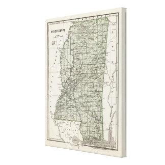 Mississippi Atlas Map Canvas Print