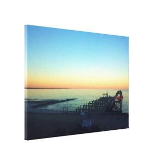 Mississippi Bay Sunset Stretched Canvas Prints