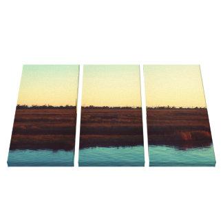 Mississippi Bayou Marshland at Sunset Canvas Print