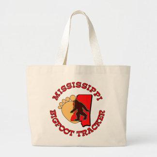 Mississippi Bigfoot Tracker Large Tote Bag