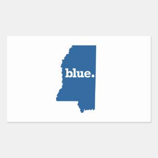 MISSISSIPPI BLUE STATE RECTANGULAR STICKER