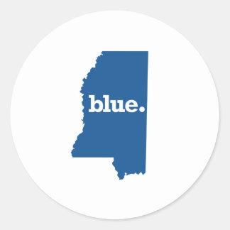 MISSISSIPPI BLUE STATE ROUND STICKER