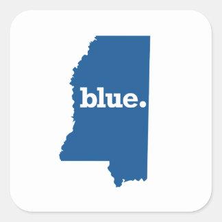 MISSISSIPPI BLUE STATE SQUARE STICKER