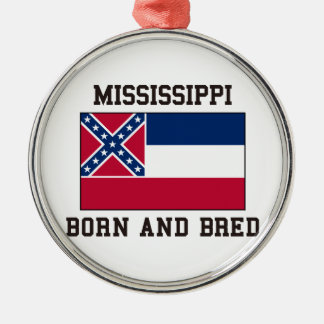 Mississippi Born Christmas Ornament