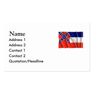 MISSISSIPPI Double-Sided STANDARD BUSINESS CARDS (Pack OF 100)