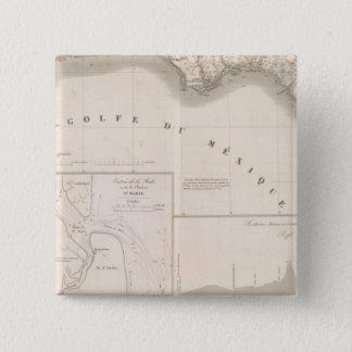 Mississippi canal delta 15 cm square badge