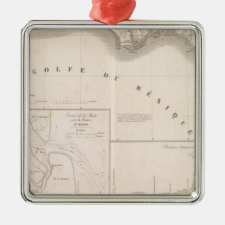 Mississippi canal delta christmas ornament