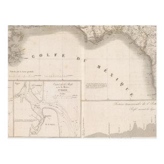 Mississippi canal delta postcard