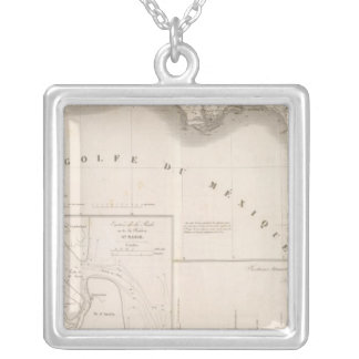 Mississippi canal delta silver plated necklace