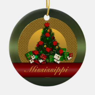 Mississippi Christmas Tree Ornament