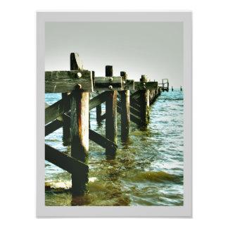 Mississippi Coast Pier Landscape Color Photo