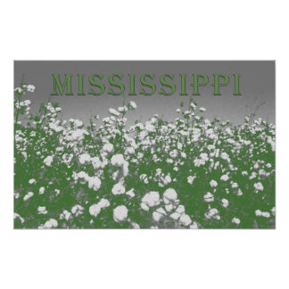 Mississippi Cotton Poster