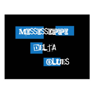 Mississippi Delta Blues Postcard