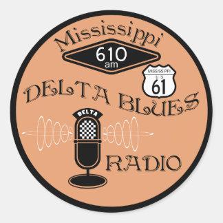 Mississippi Delta Blues Radio Round Sticker