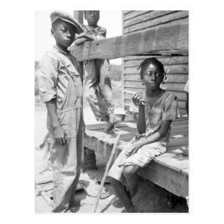 Mississippi Delta Children Postcard