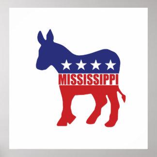 Mississippi Democrat Donkey Poster