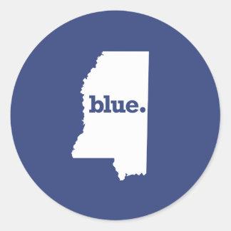 Mississippi Democrat Round Sticker