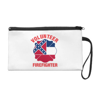Mississippi Flag Volunteer Firefighter Cross Wristlet