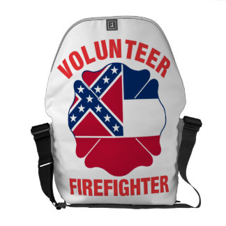 Mississippi Flag Volunteer Firefighter Cross Courier Bag