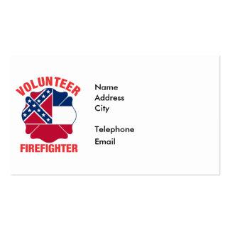 Mississippi Flag Volunteer Firefighter Cross Pack Of Standard Business Cards