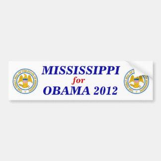 MISSISSIPPI for Obama 2012 sticker Bumper Sticker
