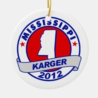 Mississippi Fred Karger Christmas Tree Ornament