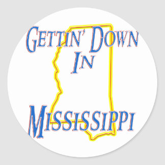 Mississippi - Gettin' Down Classic Round Sticker