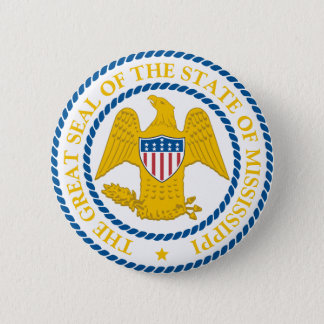 Mississippi Great Seal 6 Cm Round Badge