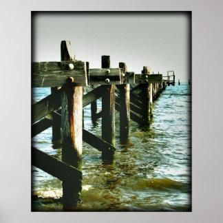Mississippi Gulf Coast Fishing Pier Photo Poster