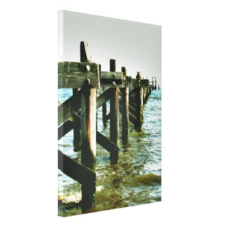 Mississippi Gulf Coast Fishing Pier Wall Canvas Gallery Wrapped Canvas