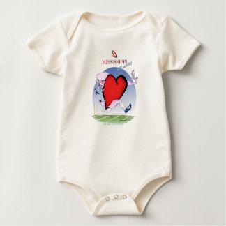mississippi head heart, tony fernandes baby bodysuit
