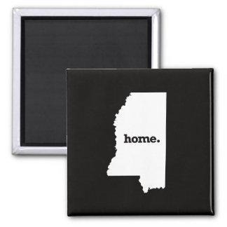 Mississippi Home Square Magnet
