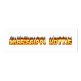 Mississippi hottie fire and flames pack of skinny business cards