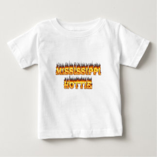 Mississippi hottie fire and flames t-shirts