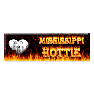Mississippi Hottie fire and red marble Business Cards