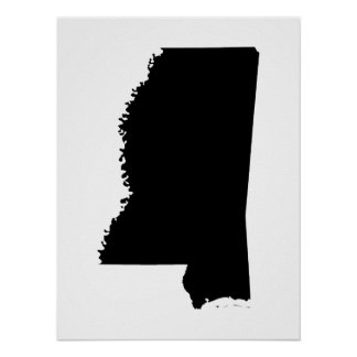 Mississippi in Black and White Poster