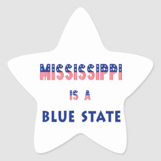 Mississippi is a Blue State Star Sticker